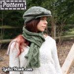 Lucky Cable Scarf Lydia Hawk Designs