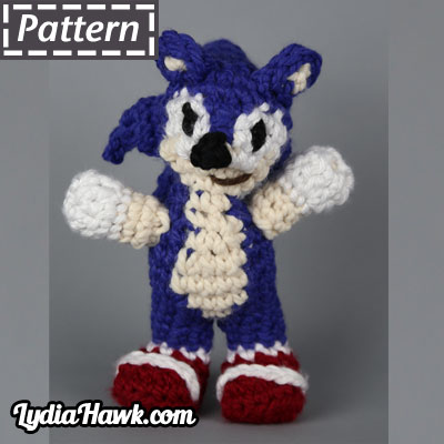 Jumbo Sonic the Hedgehog Pattern Lydia Hawj Designs Asheville NC