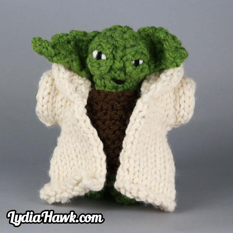 Jumbo Crochet Yoda Doll Lydia Hawk Designs Asheville WNC