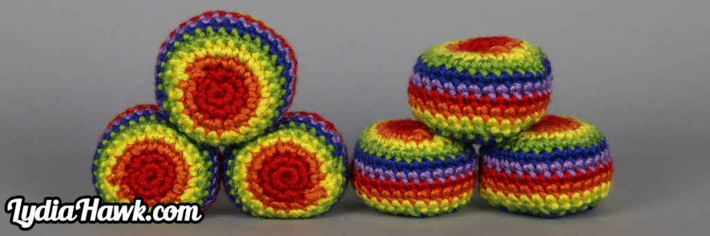 rainbow-footbag
