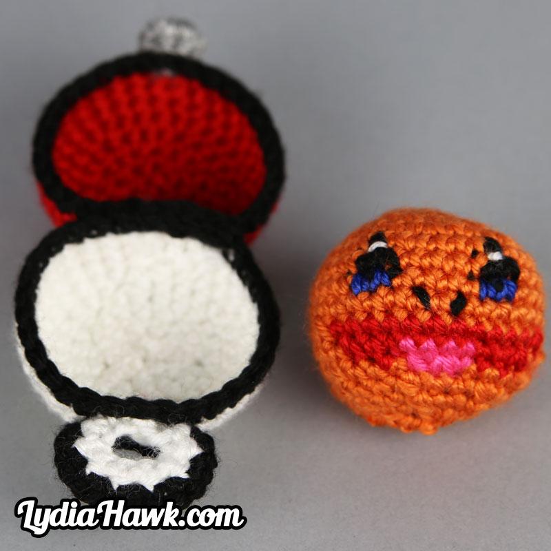 Crochet Charmander Footbag With Pokball Case Lydia Hawk Designs