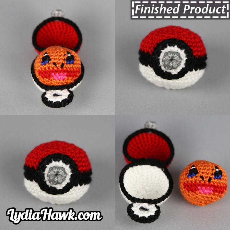 Crochet Charmander Footbag with Pokéball Case – Lydia Hawk Designs 5c088cad6b0