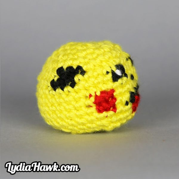 Crochet Pikachu Footbag Lydia Hawk Designs Appalachian Mountains