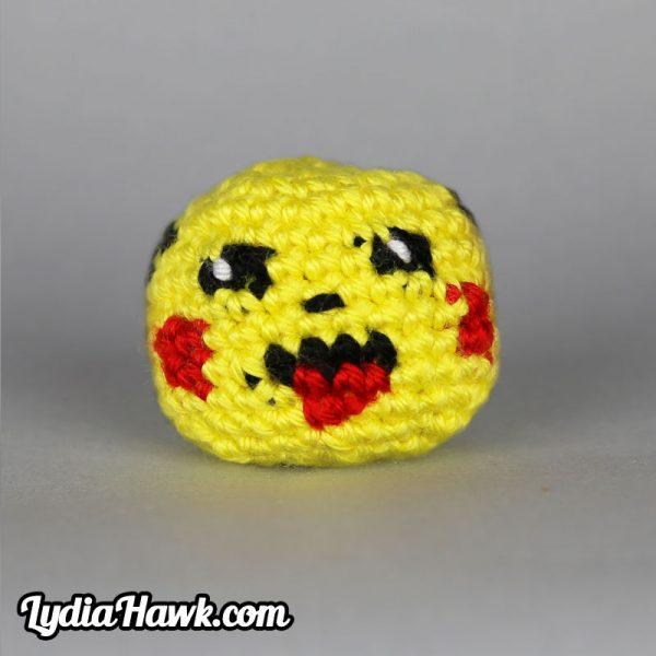 Crochet Pikachu Footbag Lydia Hawk Designs Asheville WNC