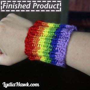 Knit Rainbow Coffee Sleeve Lydia Hawk Designs Asheville NC