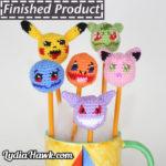 Pokemon Crochet Pencil Toppers Lydia Hawk Designs Asheville WNC