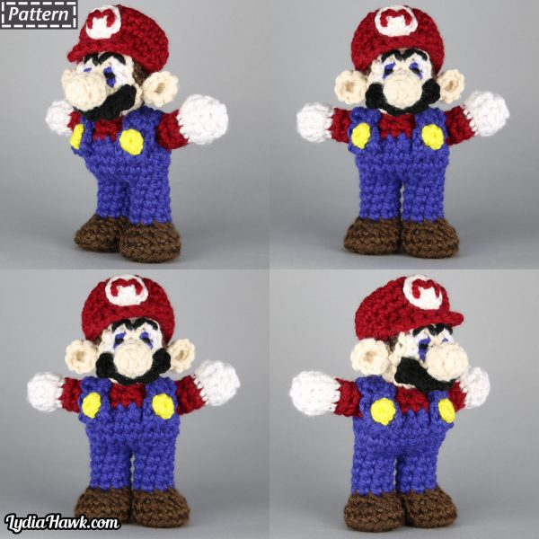 Crochet Mario Bros Doll Lydia Hawk Designs Appalachian Mtns NC