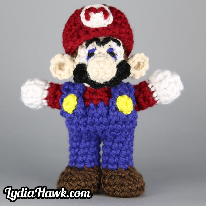 Crochet Mario Bros Doll Lydia Hawk Designs Asheville NC