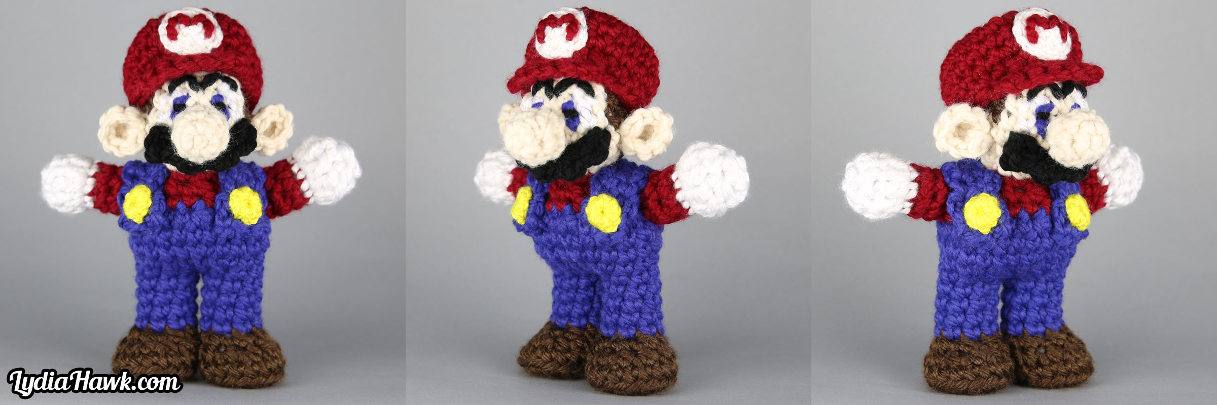 Crochet Mario Brothers Doll Lydia Hawk Designs Asheville NC