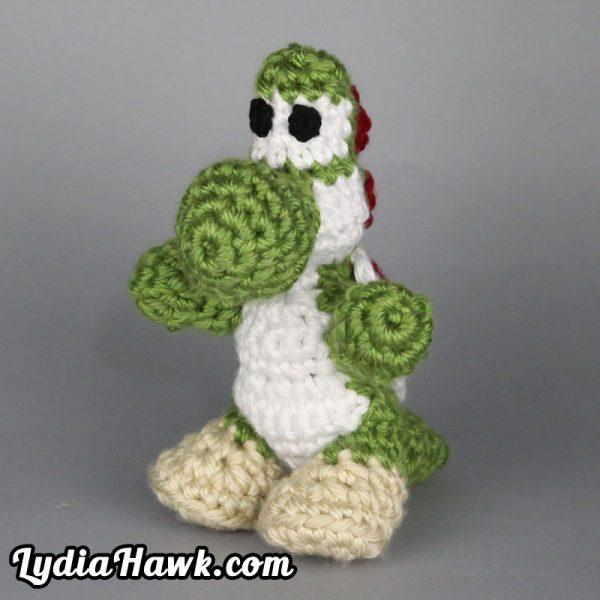 Crochet Yoshi Mario Bros. Doll Lydia Hawk Designs Asheville NC