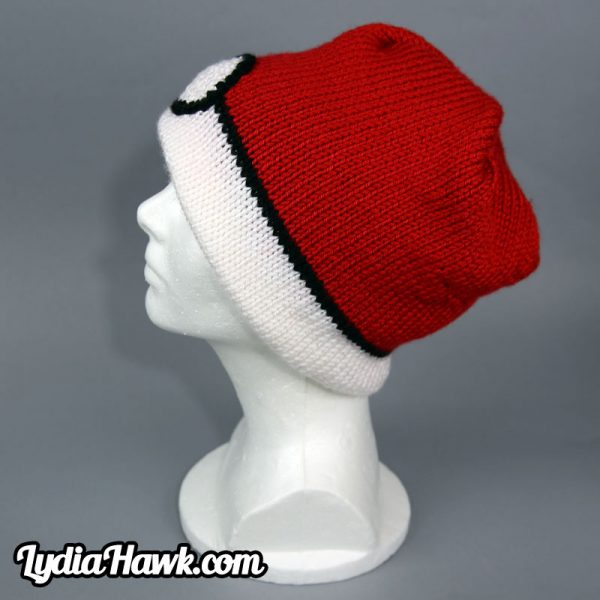 Crochet Pokeball Beanie Lydia Hawk Designs Appalachian Mnts WNC