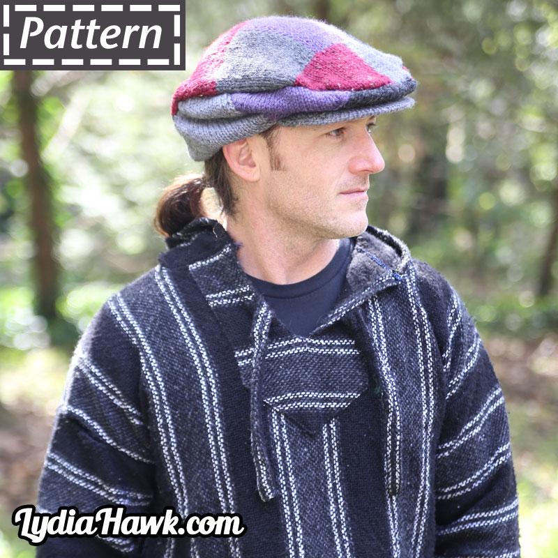 Patchwork Flat Cap Lydia Hawk Designs Asheville NC