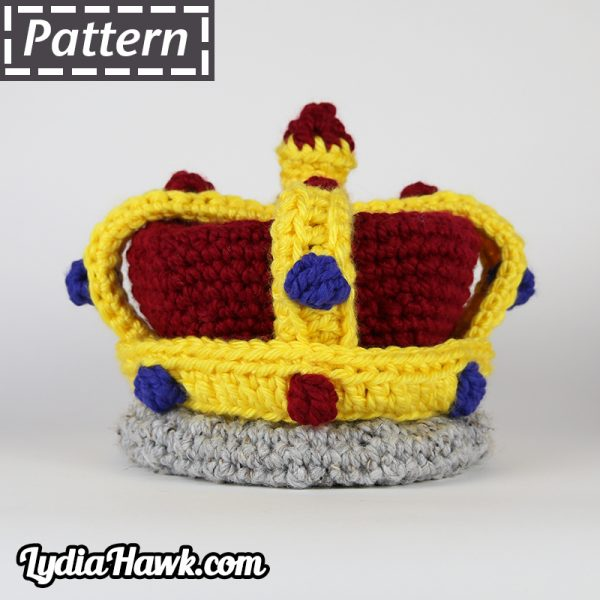 Crochet King and Queen Crown Pattern