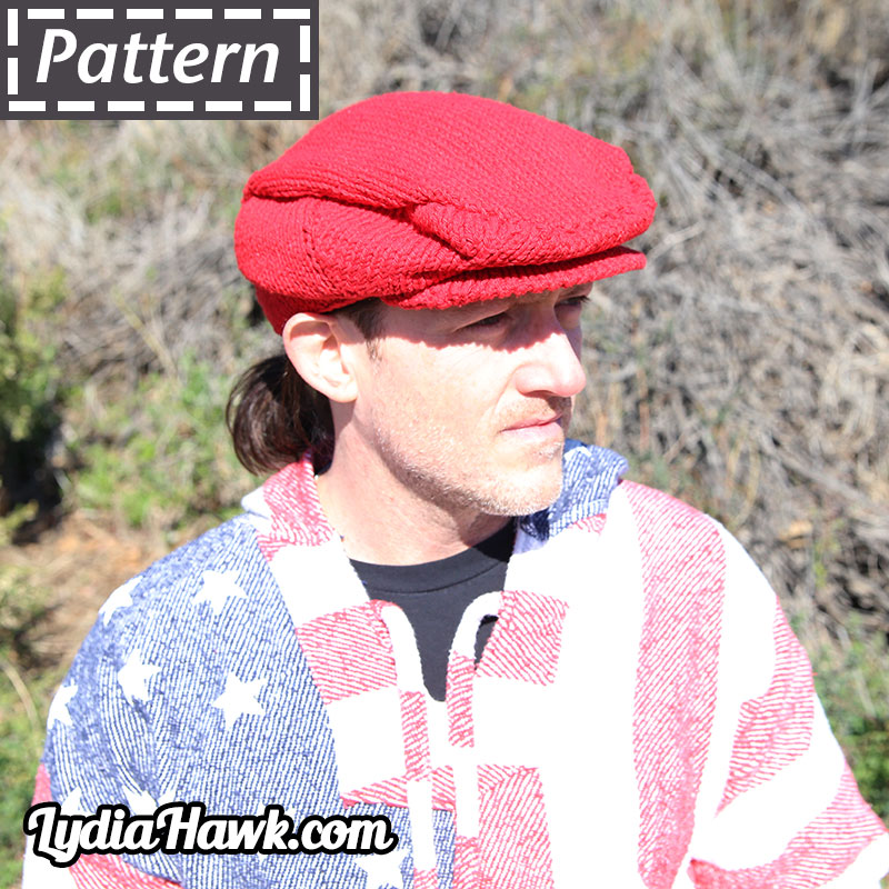 cotton-flat-cap-pattern-red-right-angle-lydia-hawk-designs