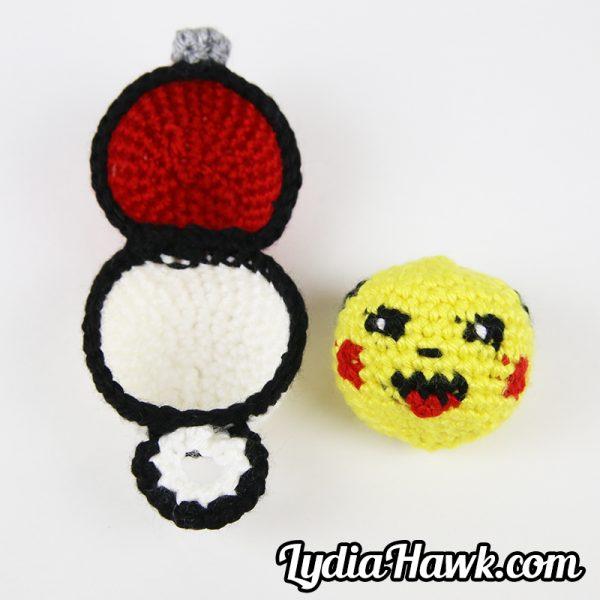 Crochet Pikachu Hacky Sack