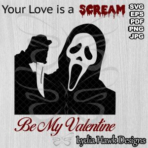 Ghostface Valentine SVG File