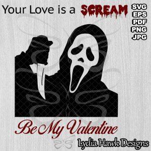 Ghostface Valentine SVG File